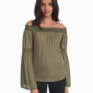 NWT WHBM off the shoulder top